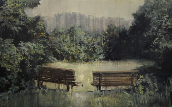 'Empty Waiting', 2012, oil on canvas, 130 x 210 cm