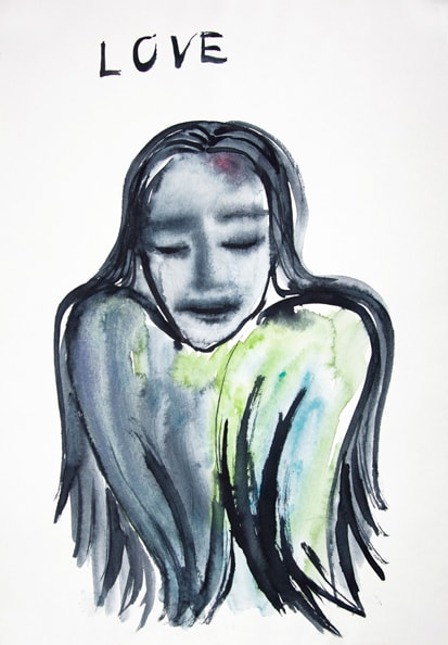'Love', 2010, water color on paper, 30 x 40 cm