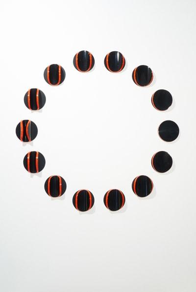 Lunar Circle: Figure H<br /> 2011, Hoop pine ply, MDF, polyurethane, 150 cm diameter, 10 cm depth