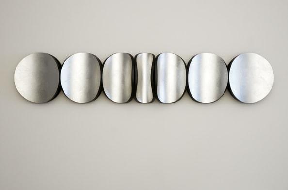 Lunar Swell: No. 4, 2013, aluminium leaf, tinted varnish, MDF, polyurethane, 37 x 179 x 15 cm