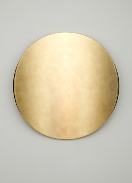 Lunar Warp: Sun, 2012, Timber, Dutch gold leaf, polyurethane, 80 cm diameter, 14 cm depth