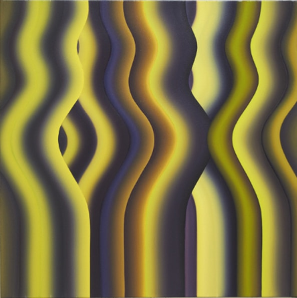 Persian Strobe 2, 2011, oil on canvas, 120 x 120 cm