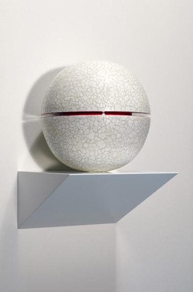 Tsukimi Slice<br /> 2011, Radiata pine, duck eggshell, polyurethane, MDF , 34 x 24 x 24 cm