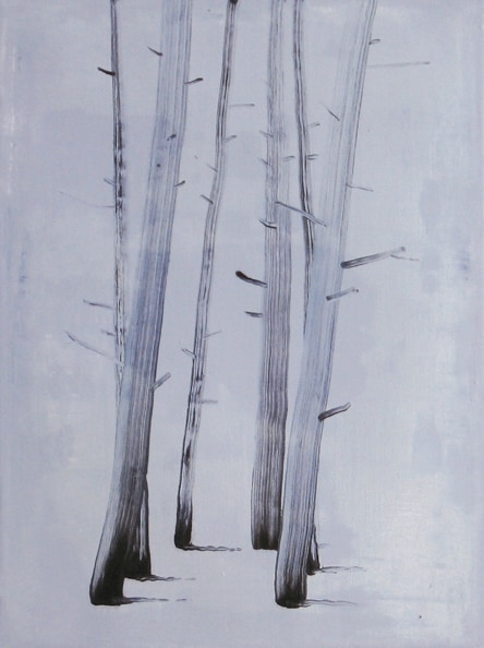 'Brush strokes', 2010, oil on canvas, 61 x 46 cm
