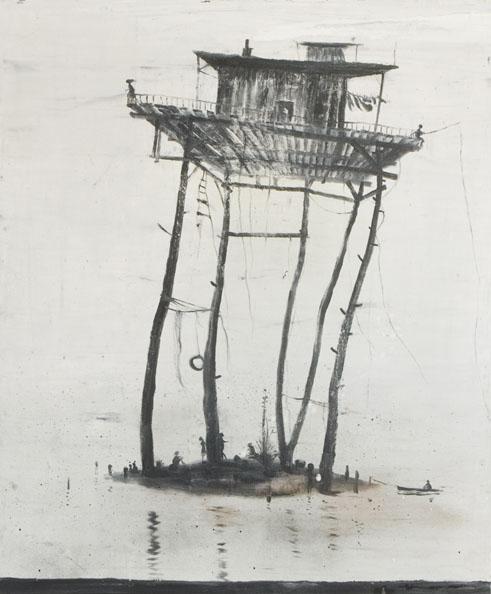 'L'ile de vent, 2010, oil on canvas, 120 x 102 cm