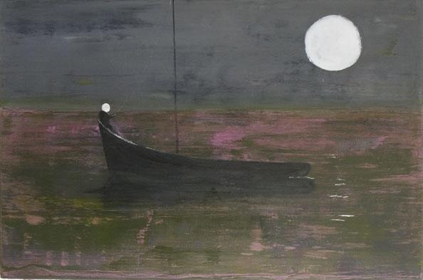 'Moon dog, 2010, oil on canvas, 102 x 152 cm