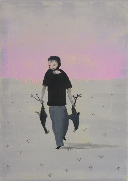 'Stealing in the name of the Lord', 2010, oil on canvas, 70 x 51 cm