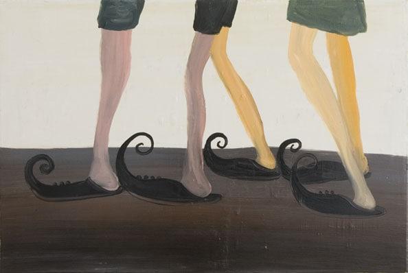 'The Arabic Legs', 2010, oil on canvas, 90 x 60 cm