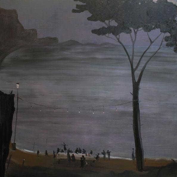 'Ultima cena', 2010, oil on canvas, 200 x 200 cm