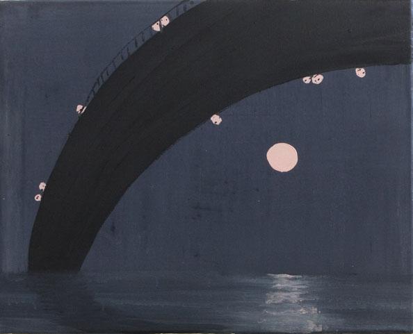 'Unter der Brucke', 2010, oil on canvas, 40 x 50 cm