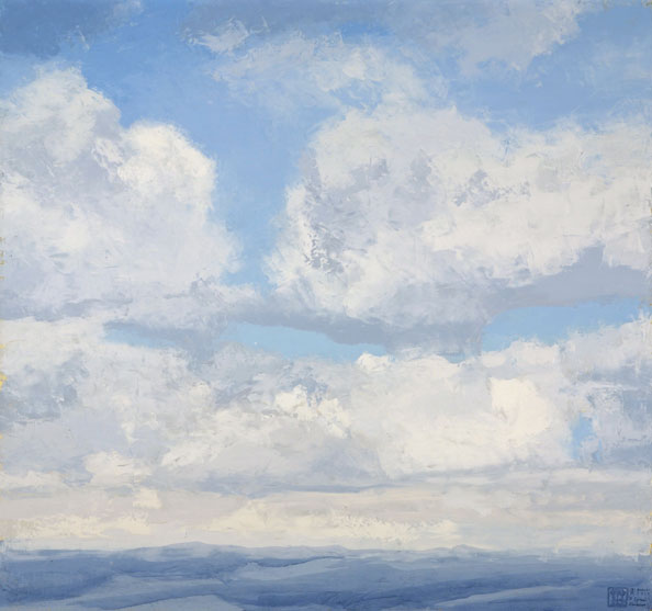 'A Lyrical Cloudscape', 2011, oil and beeswax on linen, 120 x 129 cm