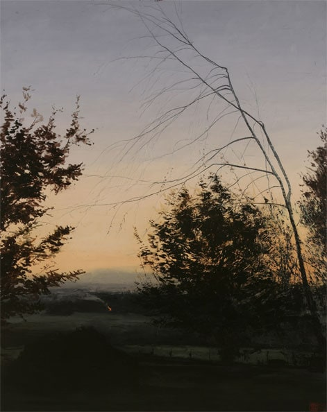 'Autuum Equinox', 2009,Oil and beeswax on canvas