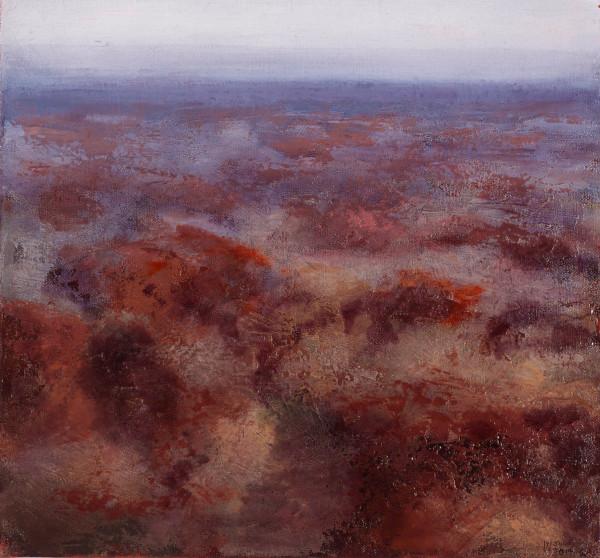 """""""Landscape Genotype No. 3', 2014, oil on linen, 46 x 49 cm"""