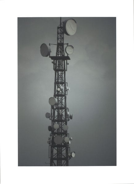 'Antenna tower', 2009, 93 x 68 cm, C-print, framed