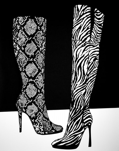 'Boots', 2012, 101.7 x 81.5 cm, Paper cut-out