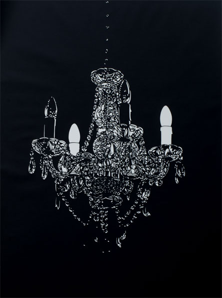 'Chandelier', 2009, 125 x 93 cm, cut-out, framed