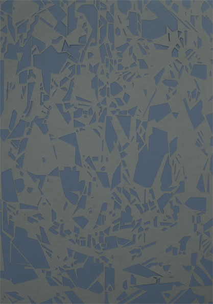 'Diamond (grey)', 2009, 51 x 36 cm, cut-out, framed