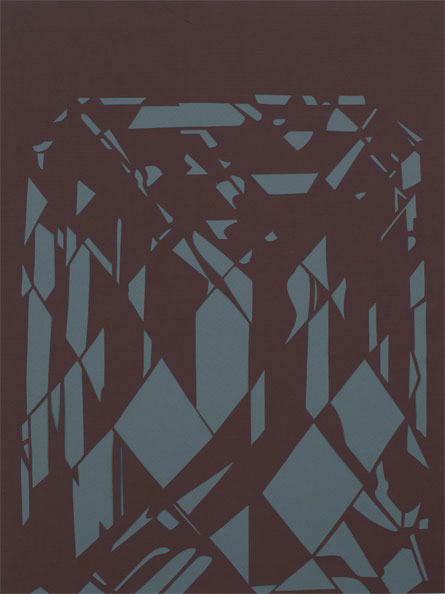 'Diamond (red)', 2009, 40 x 30 cm, cut-out, framed