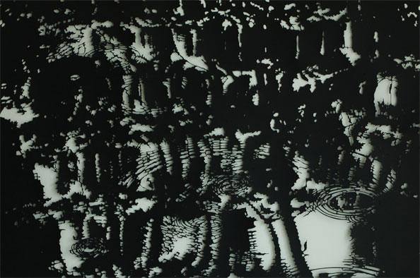 'Landscape0309', 2009, 73 x 110 cm, cut-out, framed