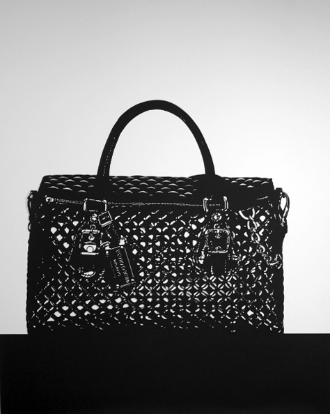 'Luciano Padovan Handbag', 2012, 101.7 x 81.5 cm, Paper cut-out