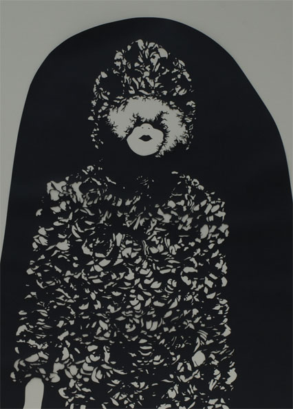 'Modell0109', 2009, 85 x 71 cm, cut-out, framed