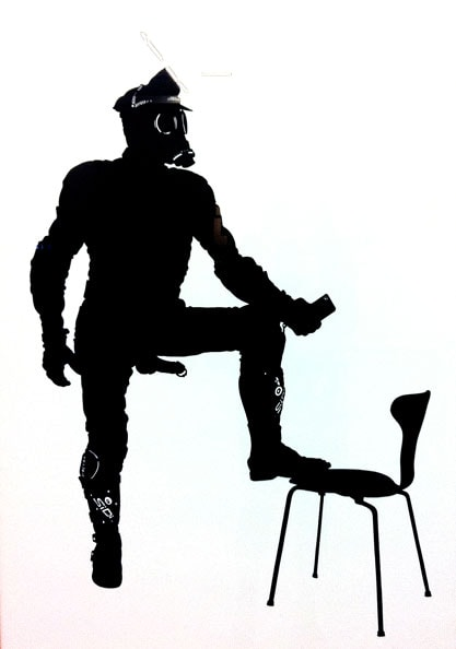 'Norbert and the Ant Chair', 2011, 70 x 100cm, cut-out