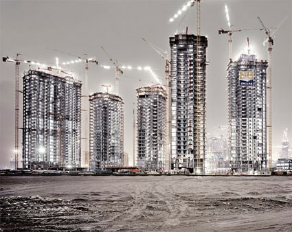 'Burj Dubai', 2006, 125 cm x 150 cm, C-Print, Diasec on Glass, framed.<br />