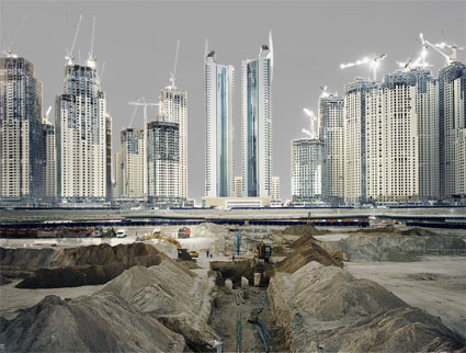 'Dubai Marina', 2006, C-Print, Diasec on Glass, framed.<br />