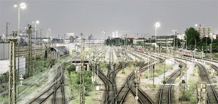 'Märklin - Central Station', 2004, 125 cm x 232 cm, C-Print, Diasec on Glass, framed.<br />