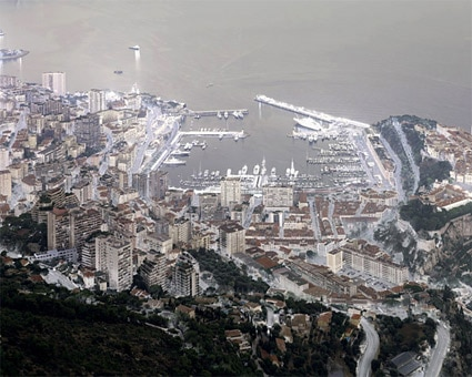 'Monaco', 2004, 125 cm x 160 cm, C-Print, Diasec on Glass, framed.<br />