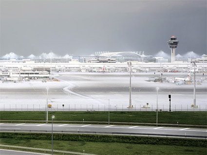 'Munich Airport' 2003, 91 cm x 114 cm, C-Print, Diasec on Glass, framed.<br />