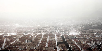 'Nizza' 2004, 100 cm x 200 cm, C-Print, Diasec on Glass, framed.<br />