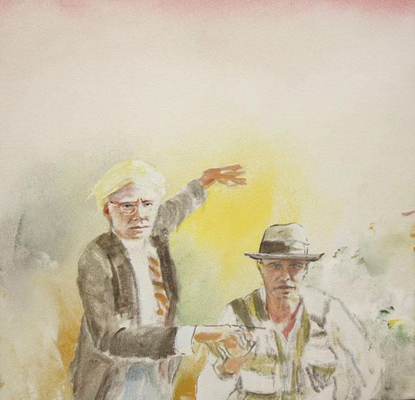 'A.W. & J.B.', acrylic/canvas, 31 x 31 cm