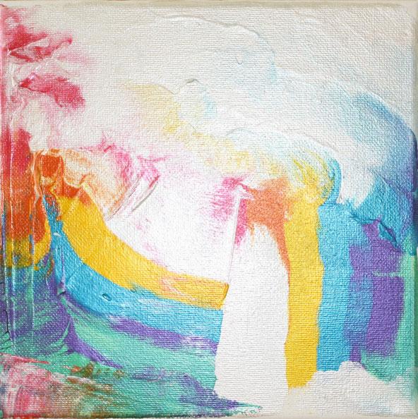 'After Munch', 2014, acrylic/canvas, 20 x 20cm