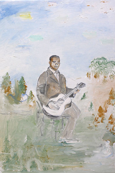 'Blind Lemon Jefferson', 2014, Oil on Canvas, 46 x 31 cm