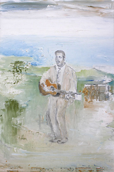 'Blind Willie Johnson', 2014, Oil on Canvas, 46 x 31 cm