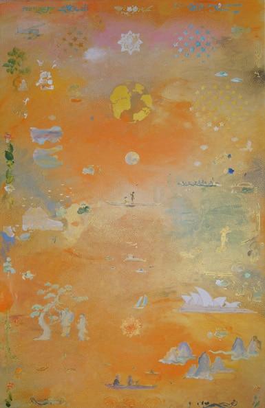 'For the Darug', 2012, acrylic on linen, 137 x 86 cm