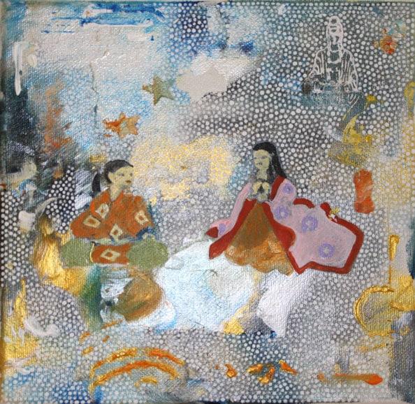 'In Japan', 2014, acrylic/canvas, 20 x 20cm