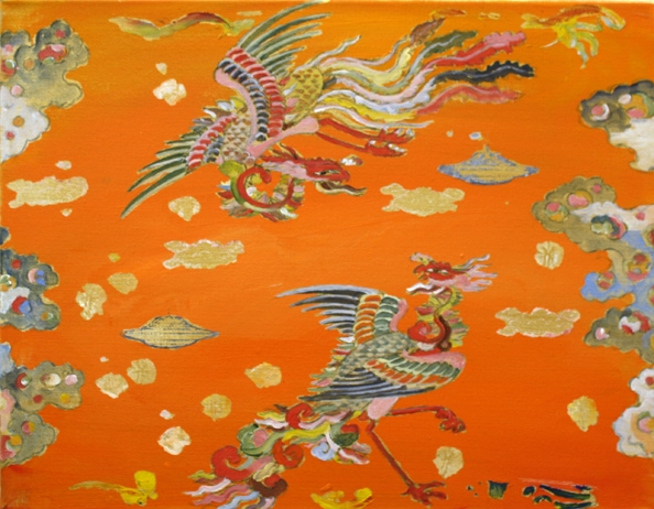 Tim Johnson, 2009, 'New Phoenix', synthetic polymer paint on canvas, 36 x 46 cm