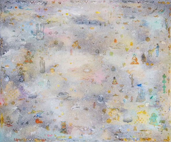 'New Pureland 1', 2014, acrylic/linen, 183 x 152cm