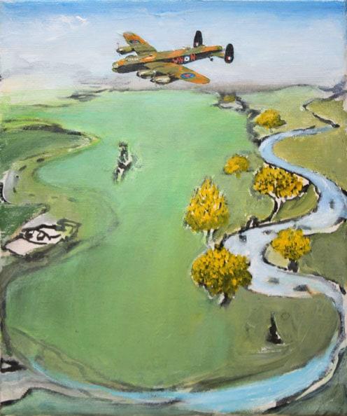 'Oberon Lancaster', 2011-12, acrylic/canvas, 21 x 26cm