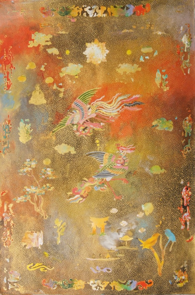 'Phoenix Door', 2012, acrylic on linen, 90 x 60 cm