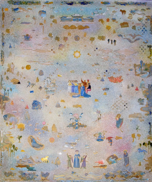 'Piero', 2014, acrylic/linen, 183 x 152cm, with Yiwon Park