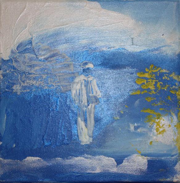 'Rimbaud in Harar', 2014, acrylic/canvas, 20 x 20cm