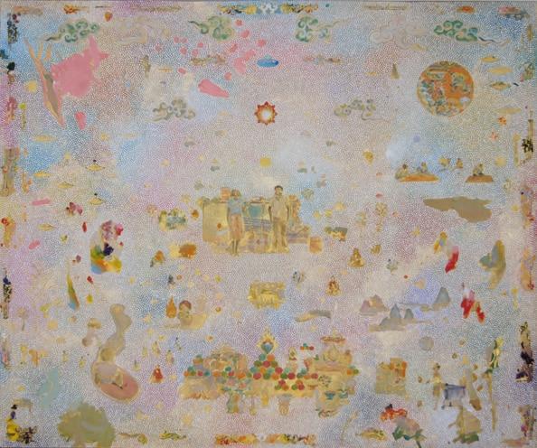'Where We Meet', 2011, acrylic on linen, 150 x 180 cm