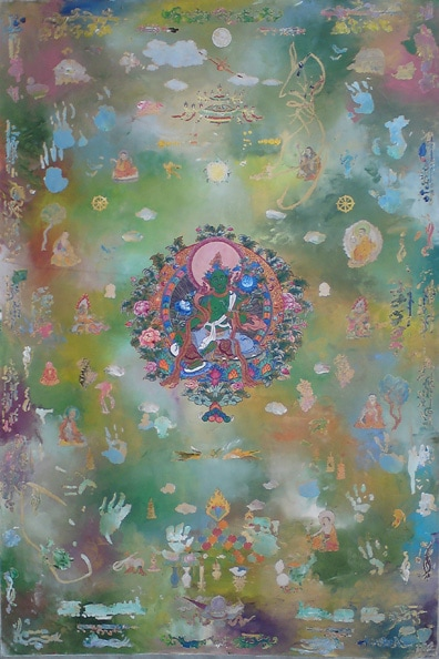 Tim Johnson and Nava Chapman , 'Green Tara', 2010, synthetic polymer paint on canvas, 183 x 122 cm