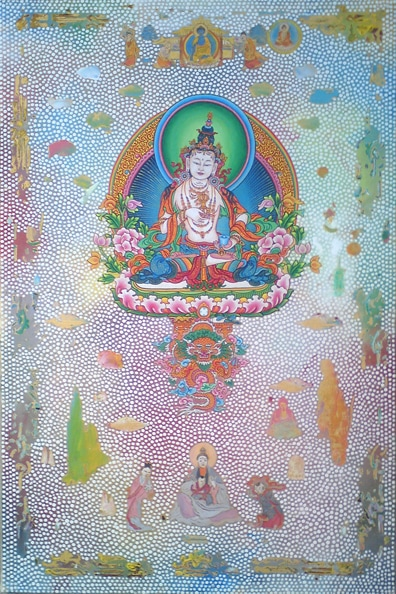 Tim Johnson and Nava Chapman, 'Vajrassatva', 2010, synthetic polymer paint on canvas, 85 x 65 cm