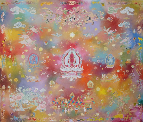 Tim Johnson and Yiwon Park, 'Amitabha', 2010, synthetic polymer paint on canvas, 165 x 195 cm