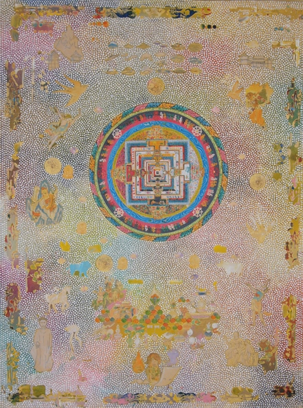 Tim Johnson with Karma Phuntsok, 'Kalachakra Mandala', 2011, acrylic on linen, 120 x 90 cm