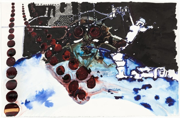 'tomorrow will just be another day', 2015, ink on paper, 66 x 101 cm